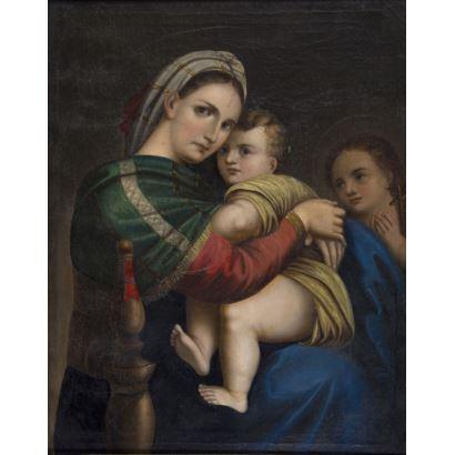Following models by Rafael Sanzio (Urbino, 1513- Rome, 1514).