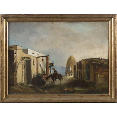 Pintura del siglo XIX. Óleo sobre tabla Siglo XIX.
