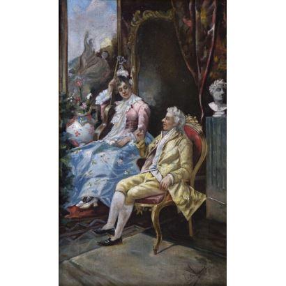 Pintura del siglo XIX. Atribuido a JOSÉ DENIS BELGRANO (Málaga, 1844 – 1917).