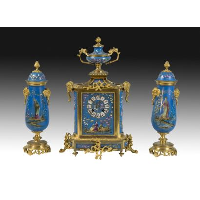 Sèvres style table clock, France, 19th century.