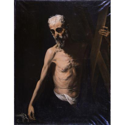 Pintura del siglo XX. Siguiendo modelos de José de Ribera.