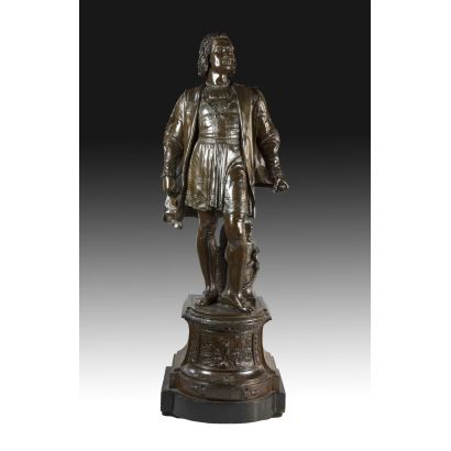 Figura representando a Cristóbal Colón, S. XIX.