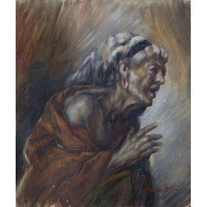BLAT Y MONZO, Ismael  (Benimèmet, 1901-1976).  Óleo sobre tablex.