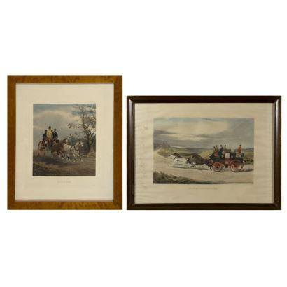 Pair of English engravings, S. XIX.
