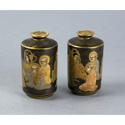 Pair of Satsuma essentials, end of the 19th century. S. XX.