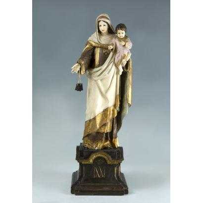 Virgin of Carmen, ff. s. XVIII.