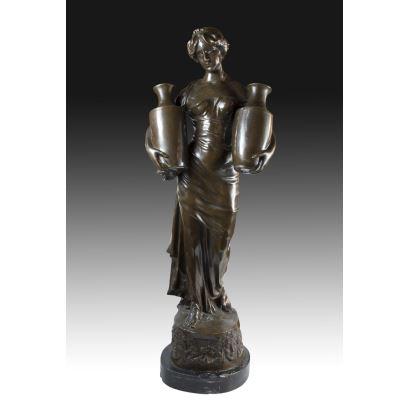 Escultura en bronce, S. XIX.