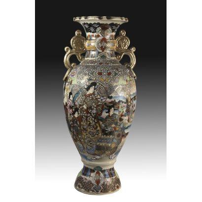 Satsuma ceramic vase, 20th century.