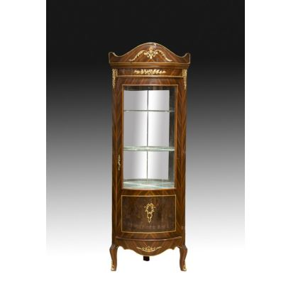 French style corner cabinet, 20th century.