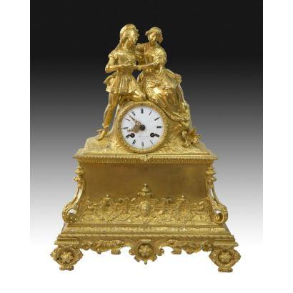 Table clock, Luis Felipe style, France S. XIX.