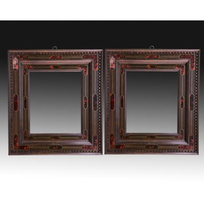 Pair of baroque style frames.
