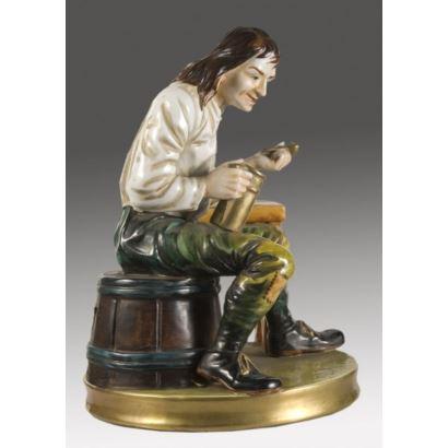 Spanish porcelain figurine, S. XX.