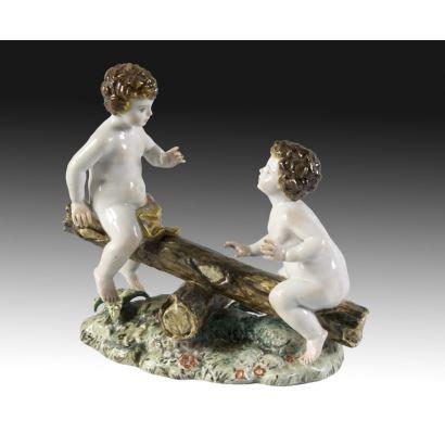 Porcelain group, S. XX.