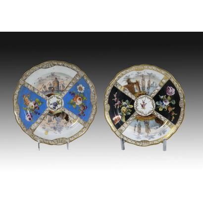 Pair of ornamental dishes, S. XX.