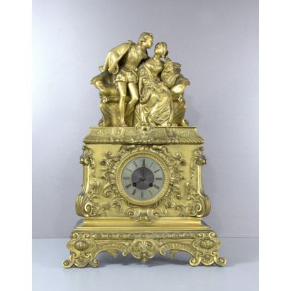 Table clock, France, 19th century.