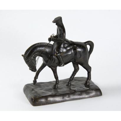 Jinete con caballo, c. 1900.