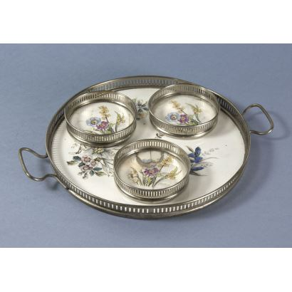 Tray with German Coasters, c. 1900.