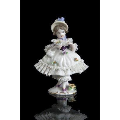 Porcelana. Figura de porcelana, Alemania, pps. siglo XX.