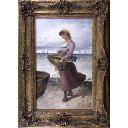 Pintura del siglo XIX. Rafael Senet y Pérez (Sevilla, 1856- 1926).