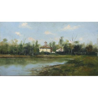 Pintura del siglo XX. NAVARRO BAZAN (Esc. Española, S. XX)