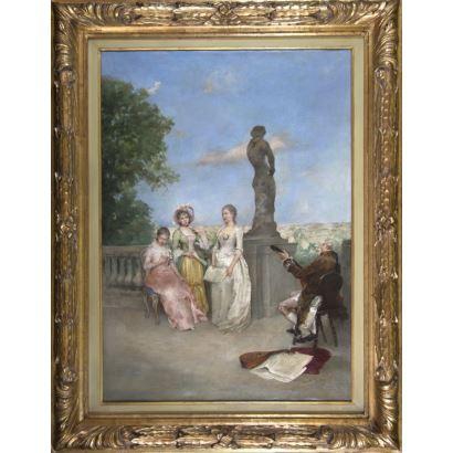 Pintura del siglo XIX. Juan Antonio González Jiménez (Chiclana de la Frontera, 1842 – París, d. de 1914).