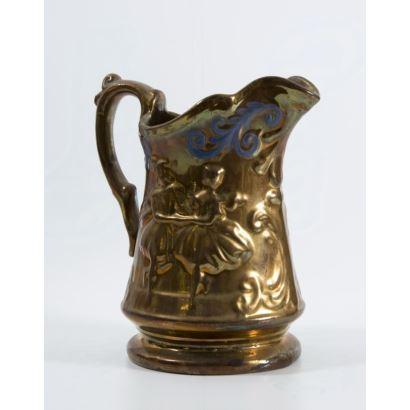 Jarra en cerámica de Bristol, ffs. XIX.