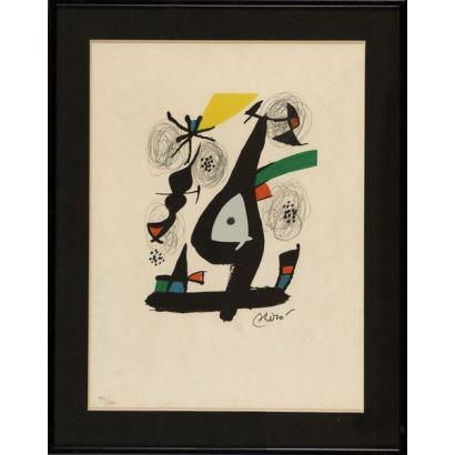 Litografía. Joan Miró.