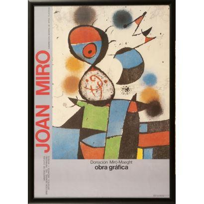 """""""Donación Miró-Maeght"""", Joan Miró. Se trata de un cartel de la Exposición Donación Miró-Maeght de 1980. Medidas sin marco: 69 x 50 cm y con marco: 73,5 x 53,5 cm"""