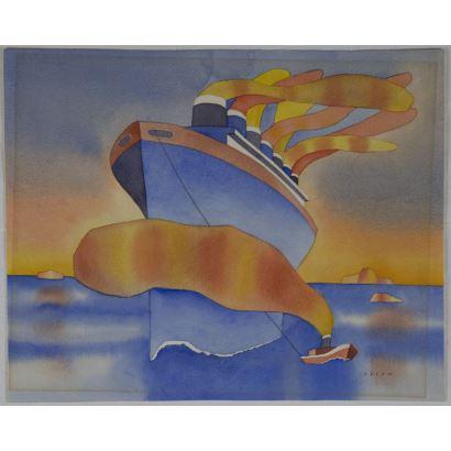 Jean-Michel Folon, (Bruselas, 1934, Mónaco, 2005).