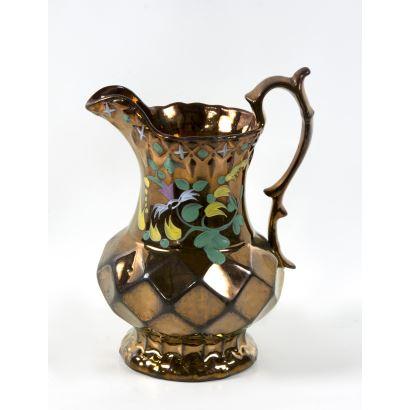 Jarra en cerámica Bristol,  S. XIX.