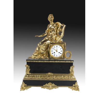 Table clock, France, S. XIX.