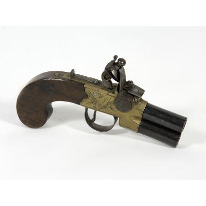 Pistola Flintlock, Londres, h. 1850.