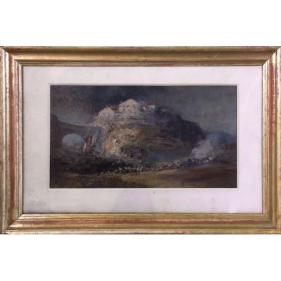 19th century painting. Spanish school, S.XIX.