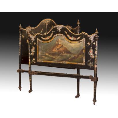 Muebles. Cama sevillana, S. XIX.