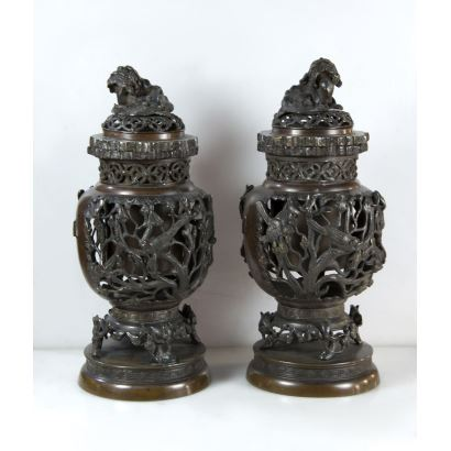 Pair of oriental vases.