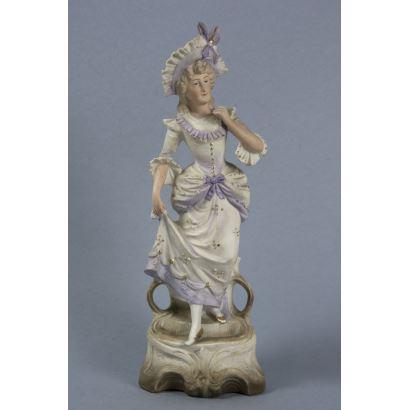 Figura en porcelana alemana, ppios. S. XX.