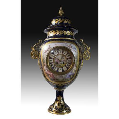 Table clock, Sèvres, S. XIX: