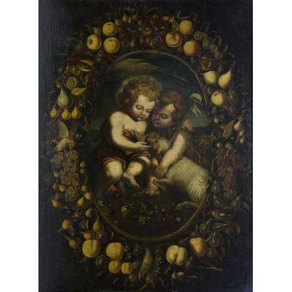 Pintura de Alta Época. Seguidor de MURILLO (1690-1700).