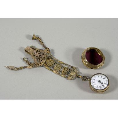 Watches. English pocket watch, 18th century.