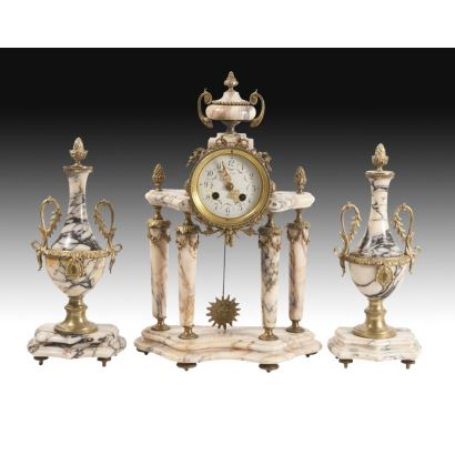 Relojes. Reloj de sobremesa Imperio, siglo XIX.