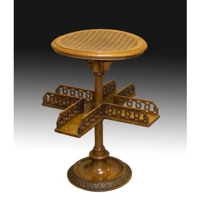 Mesa de juego inglesa, S. XIX.