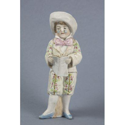 Figura en porcelana alemana, S. XIX.
