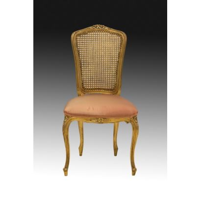 Muebles. Silla, estilo Luis XV, ppios. S. XX.