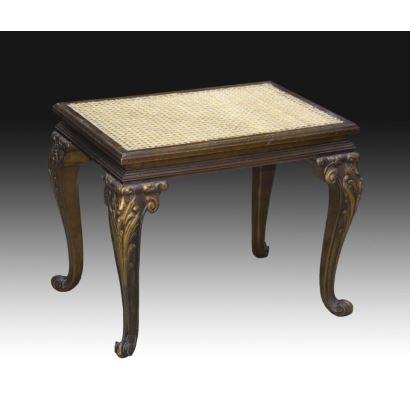 Muebles. Banqueta, S. XlX