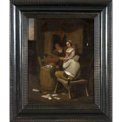Pintura de Alta Época. Escuela holandesa, S. XVIII.