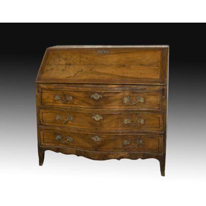 Furniture. DESK TRANSITION CARLOS III-CARLOS IV, S. XVIII.