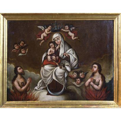 Pintura de Alta Época. Escuela novohispana, S. XVIII.
