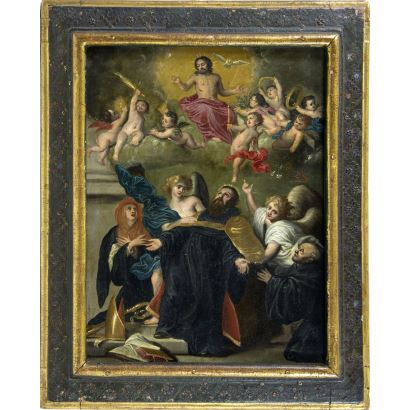 Según modelo de Anton van Dyck (Amberes,  1599-Londres, 1641).