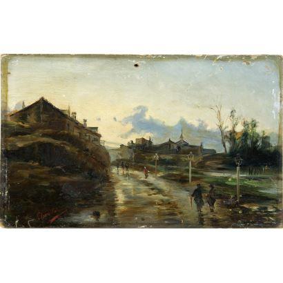 Pintura del siglo XIX. CLARA SALAZAR (Escuela española,  S. XIX).