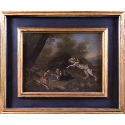 Pintura de Alta Época. Siguiendo modelos de Paul de Vos (Hulst, 1595 – Amberes, 1678).